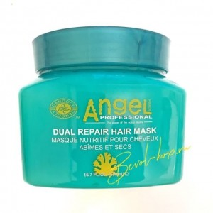 Маска двойное восстановление, Angel Green Dual Repair Hair Mask 500 мл